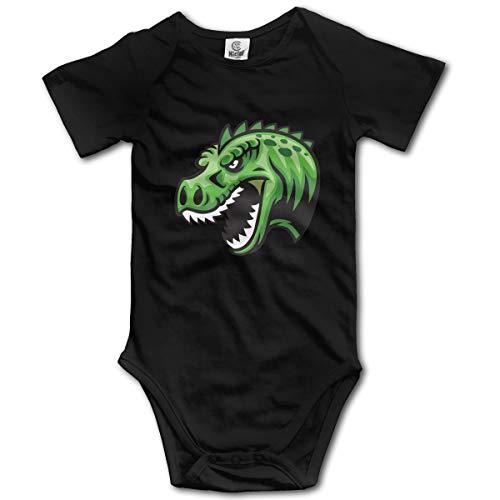 XHX Newborn Infant Dinosaur Head Short Sleeve Romper Onesie Bodysuit Jumpsuit ()