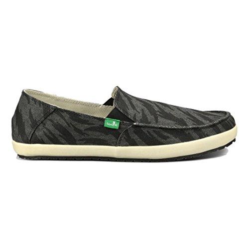Sanuk Casual Shoes Mens CASA Funk Tigerbolt Suede Slip on SMF10959 Black Tigerbolt nIy9YnsW8e