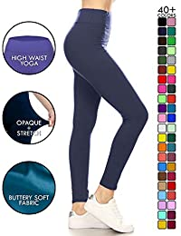 High Waisted Leggings - Buttery Soft Yoga Waisted - 40+...