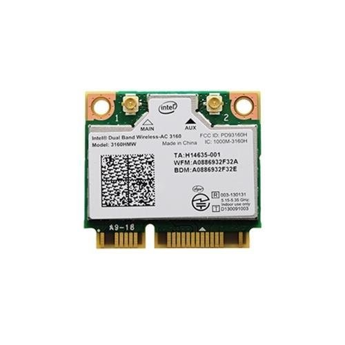 Intel 3160.HMWWB.R WiFi Wireless-AC 3160 Dual Band 1x1 AC+ Bluetooth HMC...