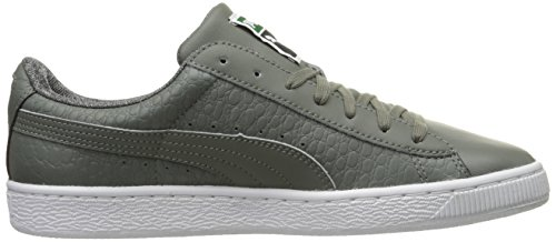 cheap sale shop for good selling sale online Puma Men's Basket Classic Textured Fashion Sneaker Castoro Gray clearance very cheap RhD6kbR