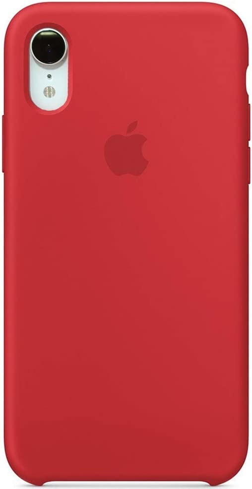 Anti-Drop iPhone XR(6.1Inch) Liquid Silicone Gel Case, TOSHIELD Soft Microfiber Cloth Lining Cushion for iPhone XR- Retail Package (Red)