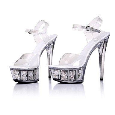 Pvc Mujer UK10 De amp;Amp; Party 5En Flip Noche Negro CN46 RTRY Más Flops Zapatillas Talón Crystal Stiletto Zapatillas amp;Amp; Blanco EU44 Ruby Summer amp;Amp; US12 q40wngEnWf