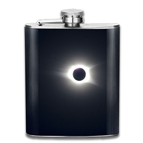 The Eclipse Flagon Wine Pot Stoup Stainless Steel Flask And Funnel Liquor Alcohol Rum Container Pocket For Adults