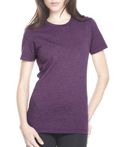Next Level Apparel Women's CVC Crewneck T-Shirt, Plum, X-Large