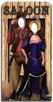 Star Cutouts SC171 Wild West Couple Life-size Cardboard Cutout -