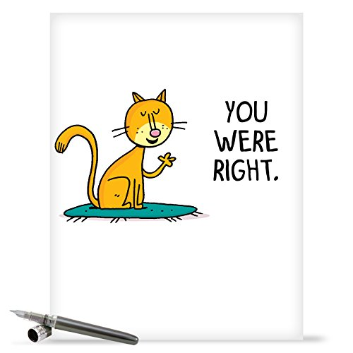 J1610MDG Jumbo Funny Mother's Day Card: You Were Right With Envelope (Extra Large Version: 8.5'' x 11'')