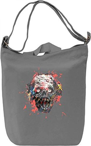 Zombie Scream Borsa Giornaliera Canvas Canvas Day Bag| 100% Premium Cotton Canvas| DTG Printing|