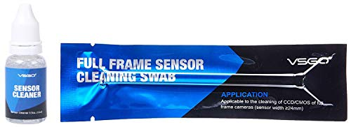 VSGO DDR24S DSLR or SLR Camera Full-Frame Sensor Cleaning Kit (15 X 24mm Sensor Cleaning Swabs + 15ml Sensor Cleaner)