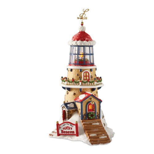 Department 56 North Pole Village Light the Way Santas Beacon Accessory Figurine by Department 56