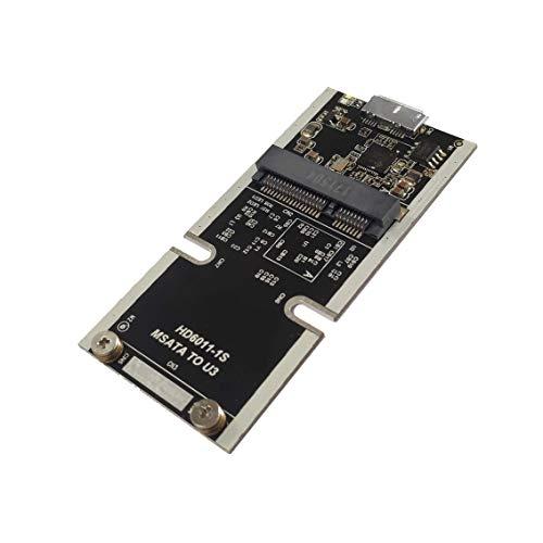 MSATA a USB 3.1 Gen2 10GBPS SSD Carcasa Adaptador con USB Tipo C Interfaz para Unidad de Disco Duro Interna mSATA de Estado sólido mSATA TO USB3.0 ...