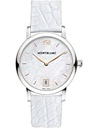 Womens Star Classique 108765 Silver Alligator Leather Swiss Quartz Watch. MONTBLANC