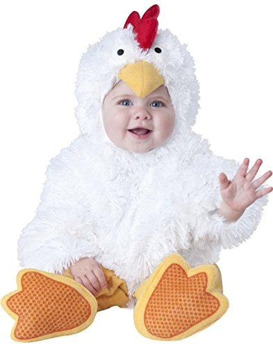 InCharacter Baby's Cluckin' Cutie Chicken Costume, White, Small