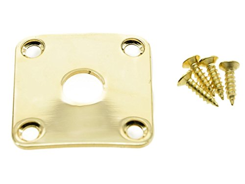 - Dopro Gold Metal Curved Base Bottom Jack Plate Square Jackplate fits Gibson LP Les Paul