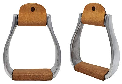 CHALLENGER Horse Western Pleasure Riding Adult Saddle Aluminum Stirrups Leather Tread 51168