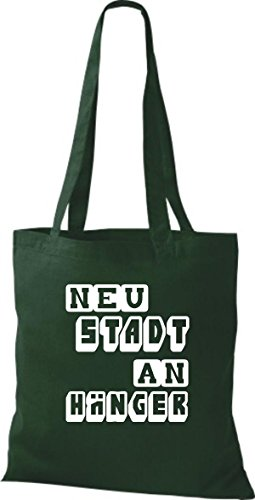 Shirtstown - Bolso de tela de algodón para mujer Verde - verde