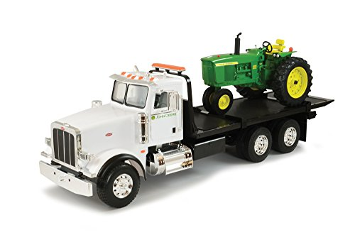 eterbilt Model 367 Dealership Delivery Truck With Roll Off And 4020 Tractor (Peterbilt Diecast)