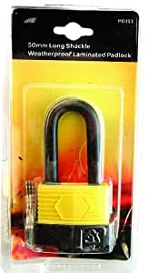Blackspur BB-PD353 Long Shackle Weatherproof Laminated Steel Padlock