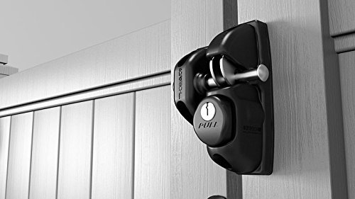 Safetech Viper Gate Latch (SLV-VIPER-X2) With Gate Handle (Black)