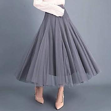 HEHEAB Falda,Gris De 3 Capas De Tul Princesa Faldas Vintage De ...