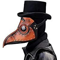 Leshi Shop Pest Doctor Masker, Steampunk Vogelleer Snavelmasker Met Lange Neus Cosplay Props (Bruin)