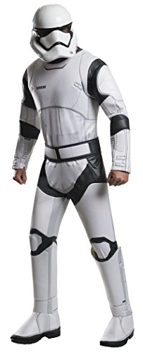 Star Wars: The Force Awakens Deluxe Adult Stormtrooper Costume, Multi, (Stormtrooper Force Awakens Costume)