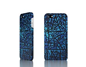 Apple iPhone 4/4S Case - The Best 3D Full Wrap iPhone Case - Blue_Stained_Glass