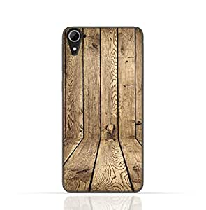 HTC Desire 826 TPU Silicone Case with Wood Texture Old Panels Pattern