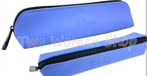 Dior Beaute Counter Gift - Blue Lip Pencel Brushes Makeup Cosmetic Bag 1pcs