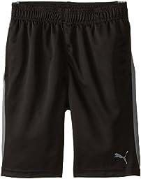 PUMA Big Boys\' Active Short, PUMA Black, 8 (Small)