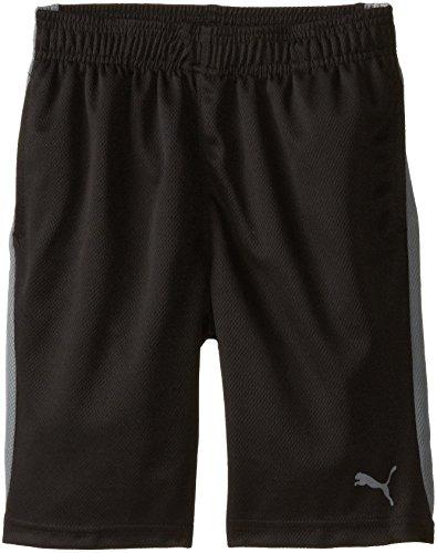 PUMA Big Boys' Active Short, PUMA Black, 10-12 (Medium)