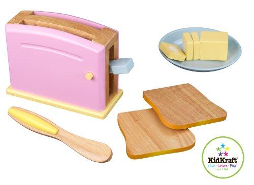 Kidkraft Wooden Pastel - KidKraft Pastel Toaster Set