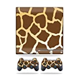MightySkins Protective Vinyl Skin Decal Cover for Sony Playstation 3 PS3 Slim skins + 2 Controller skins Sticker Giraffe For Sale