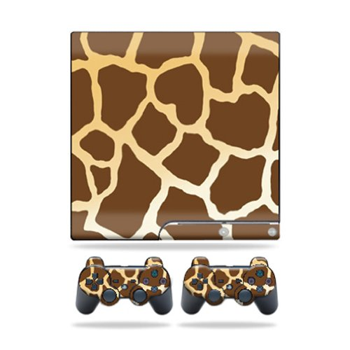 Giraffe Faceplate - MightySkins Protective Vinyl Skin Decal Cover for Sony Playstation 3 PS3 Slim skins + 2 Controller skins Sticker Giraffe