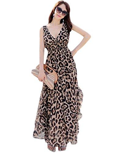 Leopard Print Maxi Dress - 8
