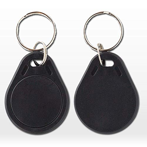 NFC NTAG215 Black Keyfob - 10 pack - Works with TagMo and Nintendo Amiibo