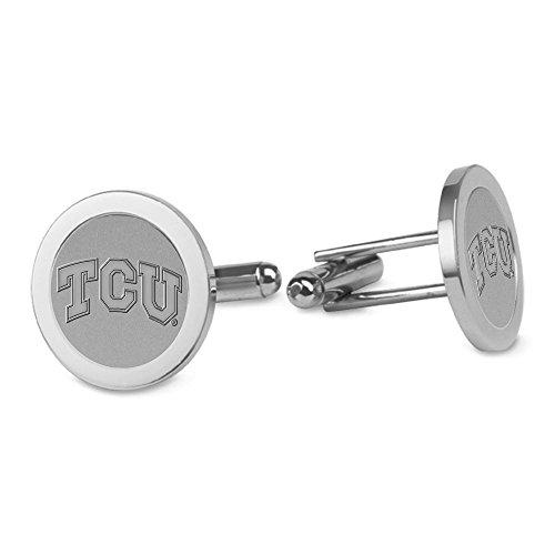 NCAA TCU Horned Frogs Adult Men Cufflinks, One Size, Silver - Tcu Cufflinks Frog Horned