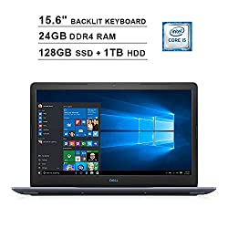 2019 Premium Dell G3 15.6 Inch FHD 1080P Gaming Laptop (Intel Core i5 2.3GHz up to 4.0GHz, 24GB DDR4 RAM, 128GB SSD + 1TB HDD, Nvidia GTX 1050Ti 4GB, Backlit Keyboard, Bluetooth, WiFi, Windows 10)