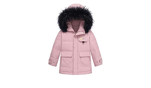 High Quality LONG Cotton Jacket Parka Coat Girls Kids Down Quilted  Fur Hooded
