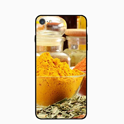 - Spices Cinnamon Aromatic Bowl Case Compatible for iPhone 7/8, Shock-Absorption Bumper Cover, Anti-Scratch Clear Back