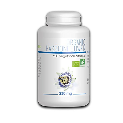 Organic Passion Flower 250mg - 200 Vegetarian Capsules