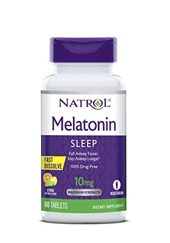Natrol Melatonin Fast Dissolve Tablets, Helps You Fall Asleep Faster, Stay Asleep Longer, Easy to take, Dissolves in…