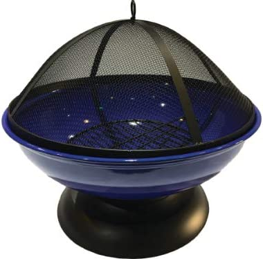 Harbor Gardens LF272ABLUE Blue Enameled Fire Bowl/Pit Sphere