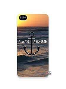Always Anchored Ocean Sunset Beach Anchor Apple iPhone 5C Quality Hard Snap On Case for iPhone 5c/5C - AT&T Sprint Verizon - White Case