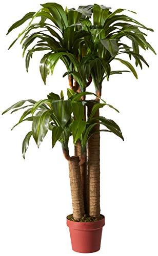 Nearly Natural 6648 Corn Stalk Dracaena Decorative Silk Plant, 4-Feet, Green ()