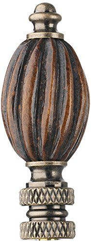 Walnut Finish Fluted Wood Finial by Universal Lighting and Decor (Image #1)