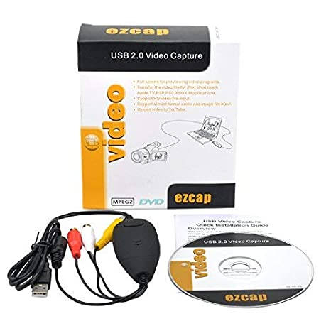 Amazon com: ezcap156 USB Video Capture Adapter Video Grabber VHS Hi8