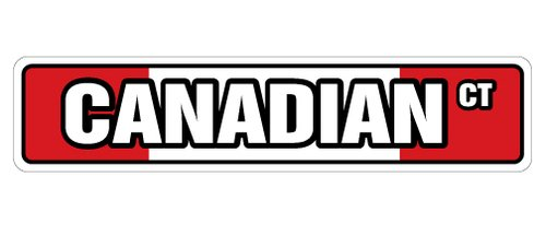 - [SignJoker] CANADIAN FLAG Street Sign canada flags maple leaf gift Wall Plaque Decoration