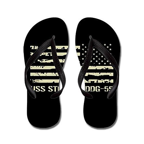 CafePress USS Stout - Flip Flops, Funny Thong Sandals, Beach Sandals Black