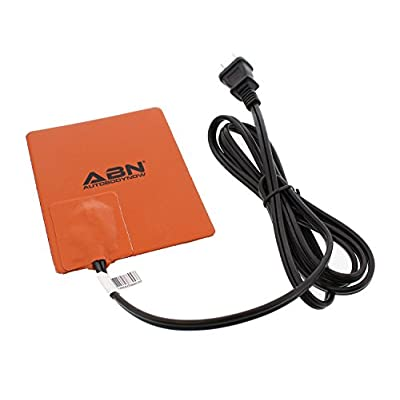 ABN Silicone Heating Pad 120V - 4 x 5 Inch Universal Engine Heater Car Oil Pan Heater Pad, 150W Electric Heater Pad: Automotive